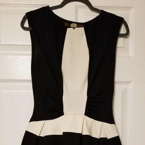 Eva Franco Strata Dress (ivory and black)